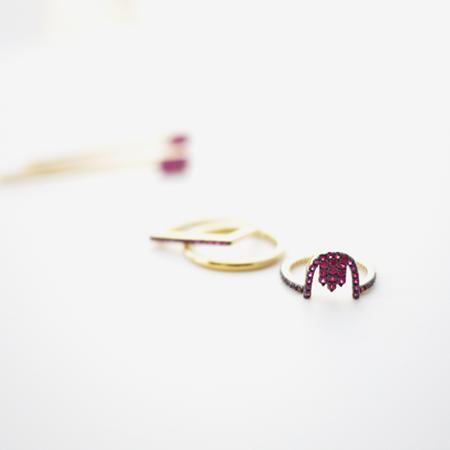 prismera ruby jewelry 14k gold plated brass