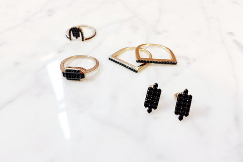 Black Jewelry Edgy Modern