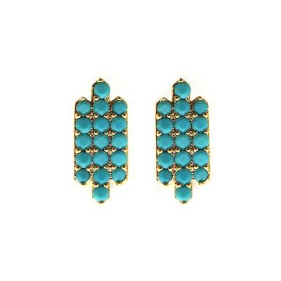 TripleBar Pavé Post - Turquoise