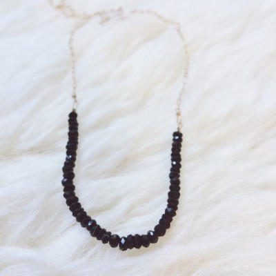 Black Spinel Fragment Necklace