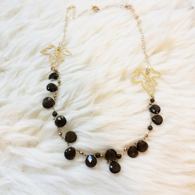 Smoky Topaz Ivy Necklace