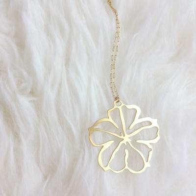 Gold Morning Glory Necklace