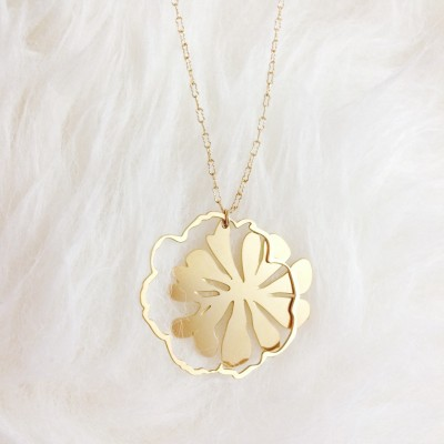 Gold Primrose Necklace
