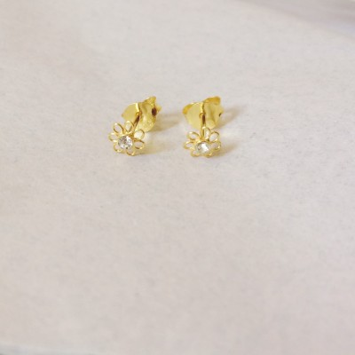 Tiny Crystal Post Earrings