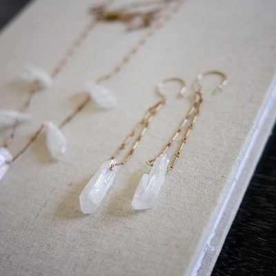 Raw Crystal Drop Earring - One of a Kind