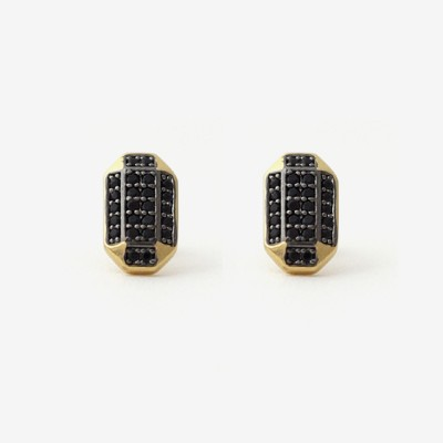 Inked Prism Pavé Post Earring