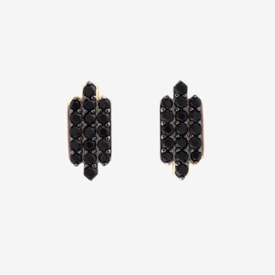 Inked TripleBar Pavé Earring