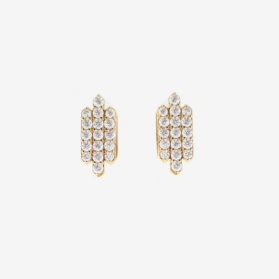 TripleBar Pavé Post Earring