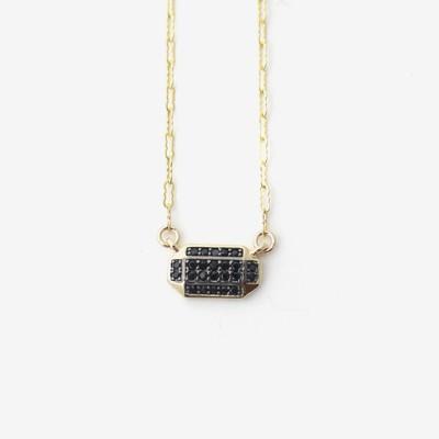 Inked Prism Pavé Necklace