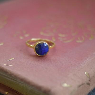 GEM RING: Round Lapis Lazuli