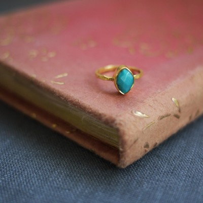 GEM RING: Marquis Turquoise