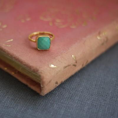 GEM RING: Square Turquoise