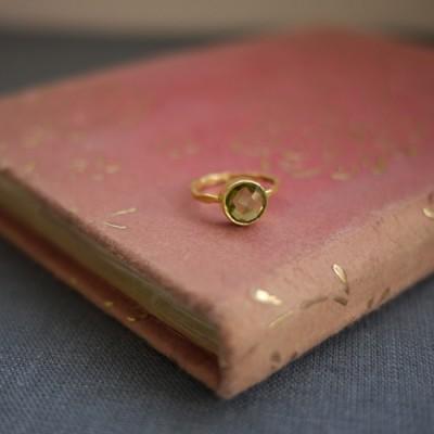 GEM RING: Round Peridot