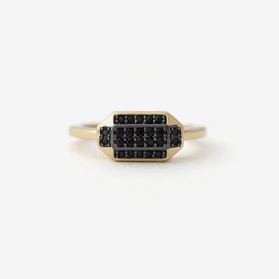 Inked Prism Pavé Ring