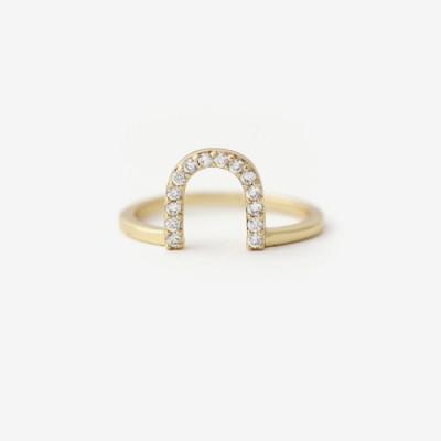 Collect U Pavé Ring