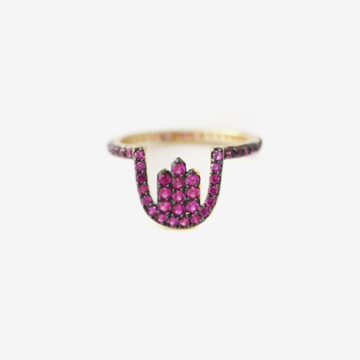 Treasures Ruby Pavé Ring