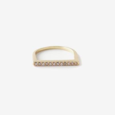 Stacking Bar Pavé Ring