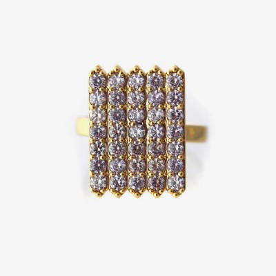 Birthstone Pavé Cocktail Ring - Alexandrite