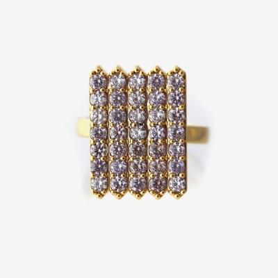 Birthstone Pavé Cocktail Ring - Alexandrite