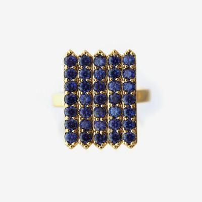 Birthstone Pavé Cocktail Ring - Sapphire