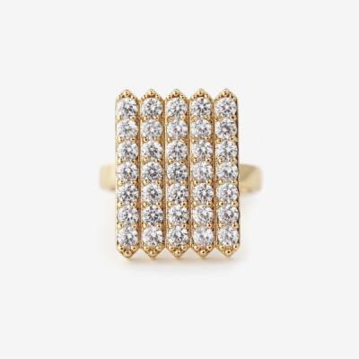 Birthstone Pavé Cocktail Ring - Diamond