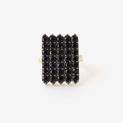 Black Shield Pavé Ring