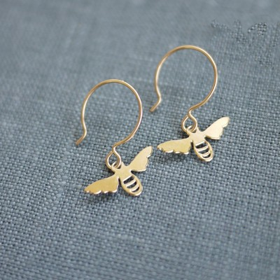 Tiny Golden Bee Earring