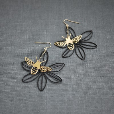 Sweet Woodruff Bee Earring