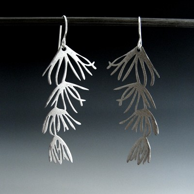 Fir needle earrings