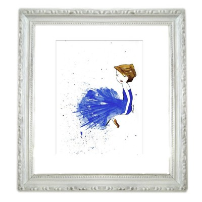 Fashion Illustration - French Ultramarine Blue