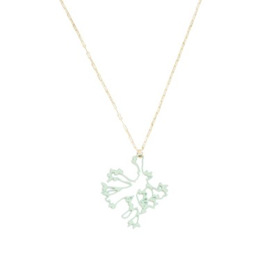 Jasmine Necklace: Mint Green