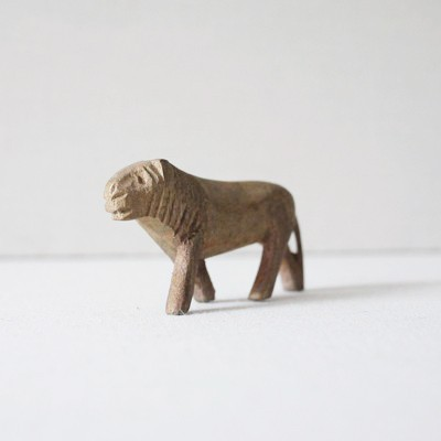 Vintage Lion Carving