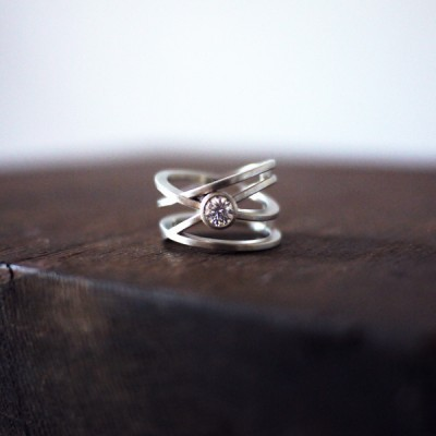 Custom Engagement Ring: Orbiting Stone
