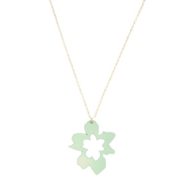 Orchid Necklace: Mint Green