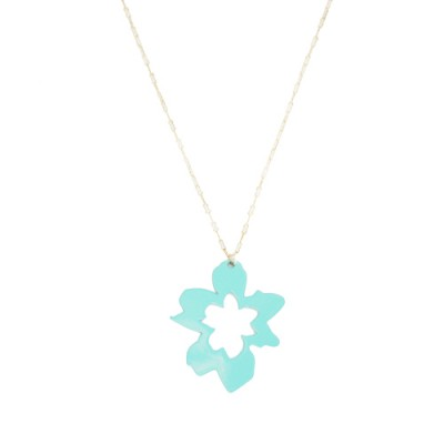 Orchid Necklace: Seafoam Green