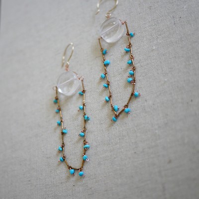 Turquoise Rain Earring - One of a Kind