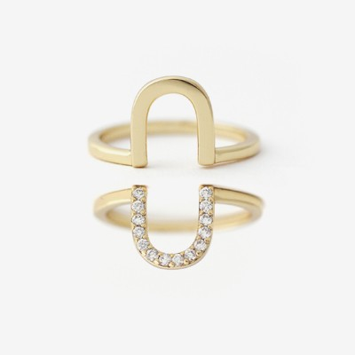 Stacked U Rings - Set of 2