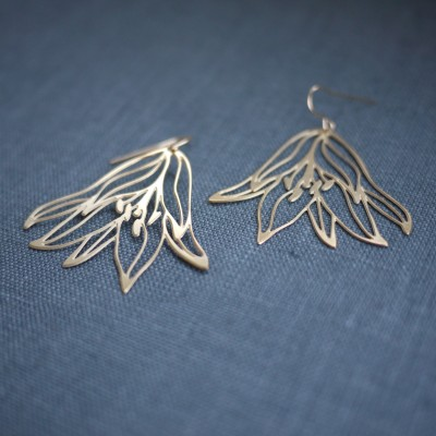 Gold Tigerlily Earrings