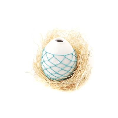 Tiny Woven Bud Vase - Turquoise