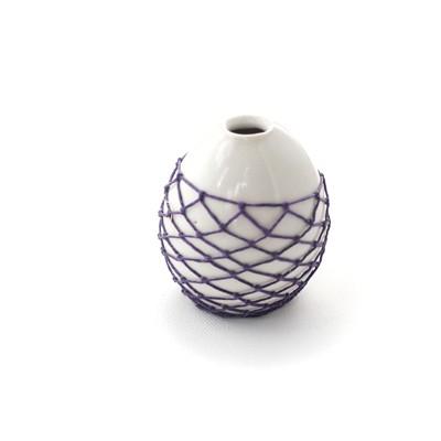 Tiny Woven Bud Vase - Violet