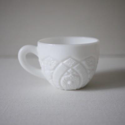 White Milkglass Cup